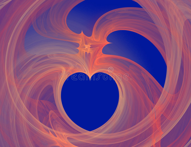 Frattalo del cuore illustrazione vettoriale