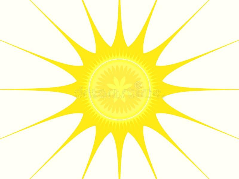 Frattalo - Sun illustrazione di stock