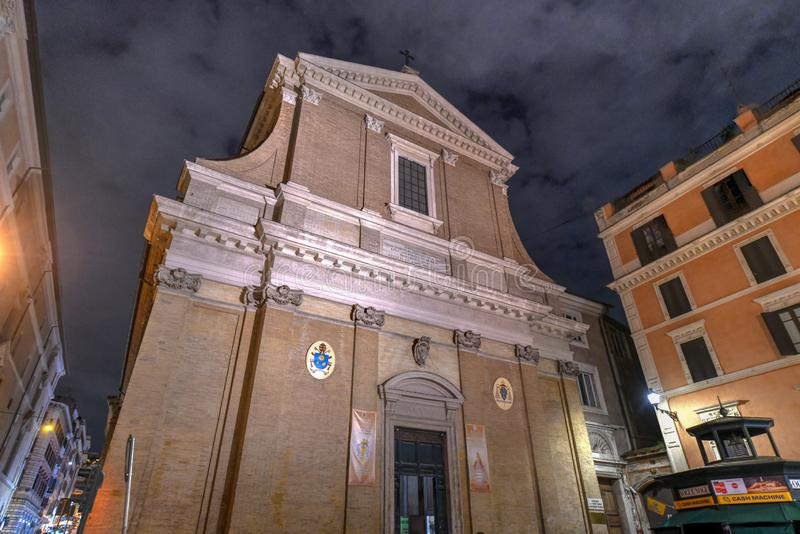 Fratte för Sant `-Andrea delle basilika - Rome, Italien arkivbild