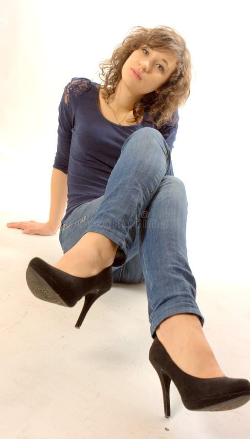 Frau stockfotografie