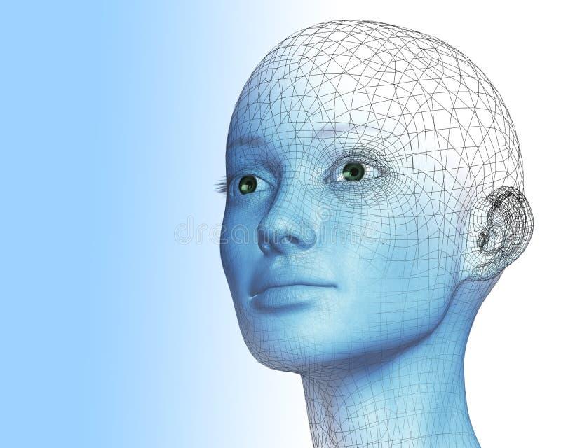 Frau 3D lizenzfreie abbildung