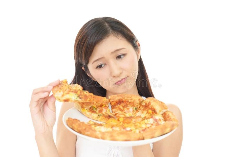 Frau auf Diät stockbilder