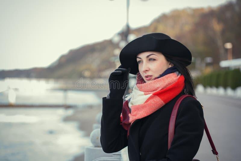 Frau auf Meer stockbild