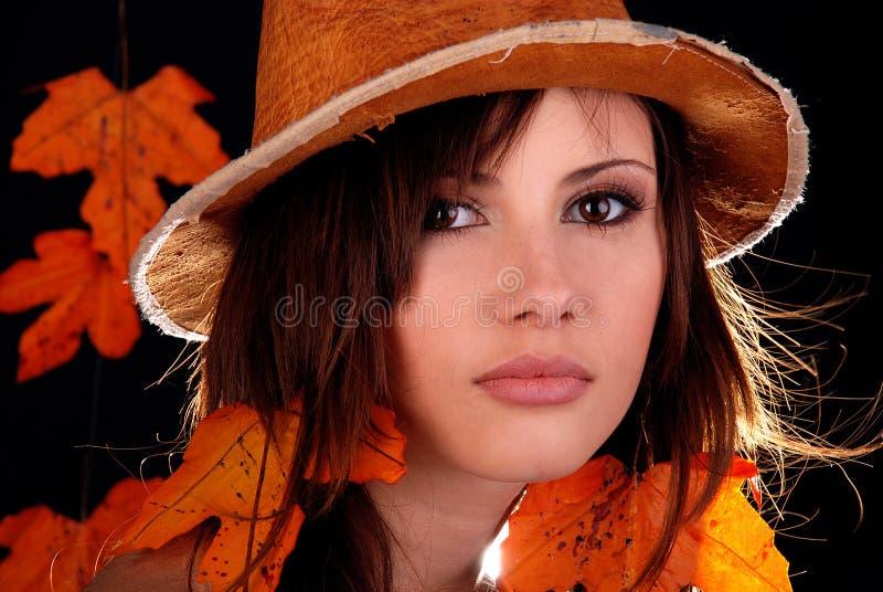 Frau Autumn. lizenzfreie stockfotos
