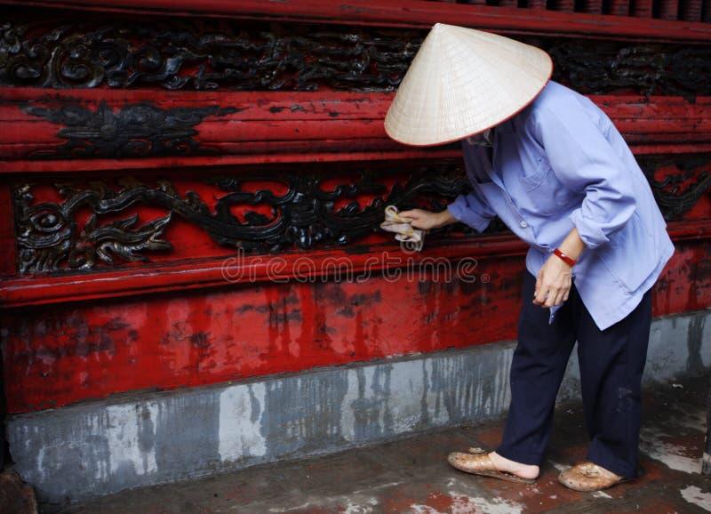 Frau bei der Arbeit in Vietnam lizenzfreies stockfoto