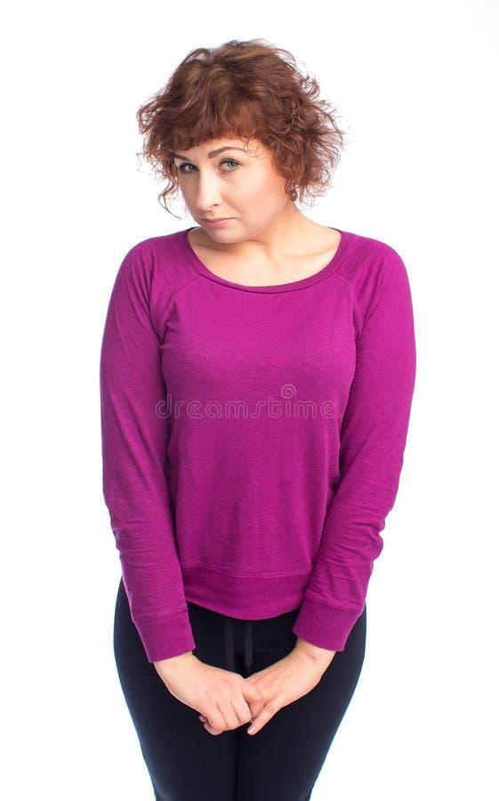 Frau betrachtet Sie anerkennend stockbilder