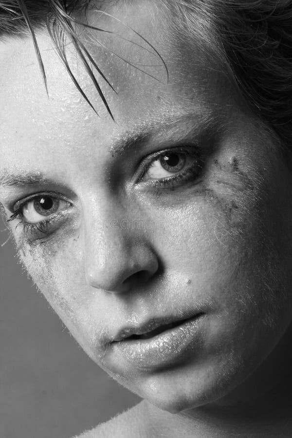 Frau in den Schmerz stockbilder