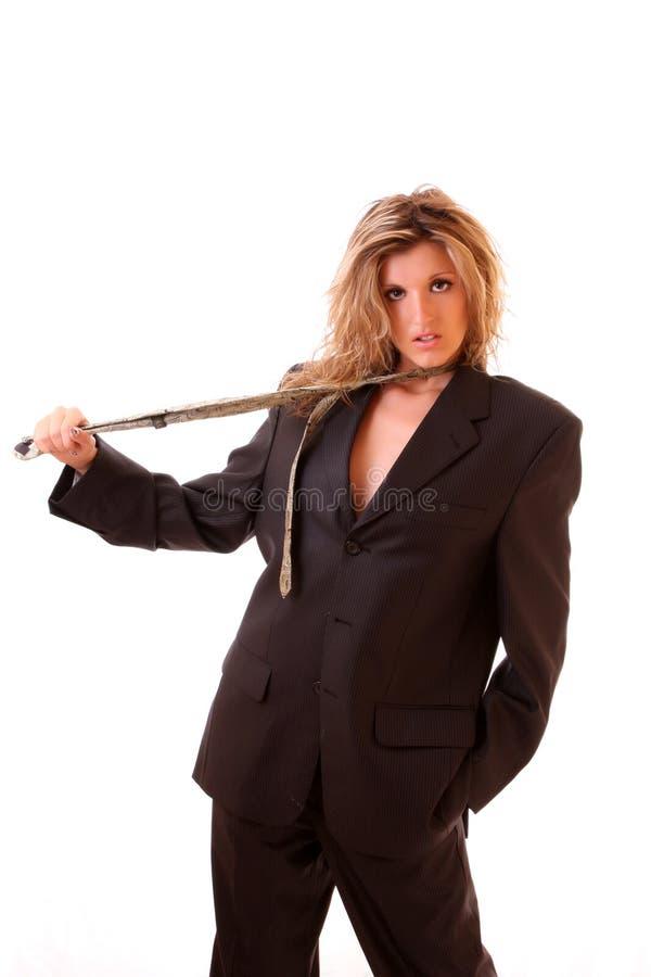 Frau in der Büroklage lizenzfreie stockbilder