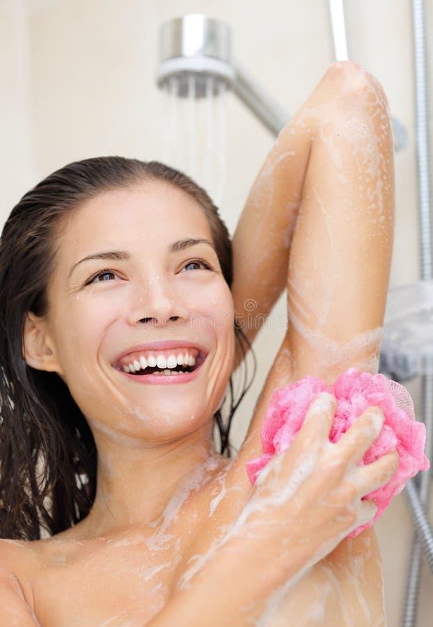 Schönheit Badet Und Wäscht Sich Intim