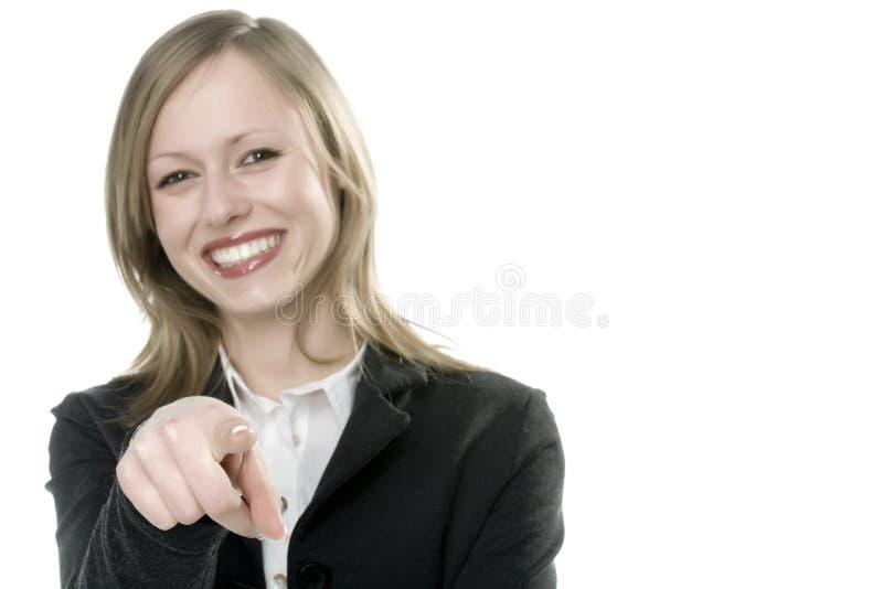 Frau, die anzeigt stockbilder