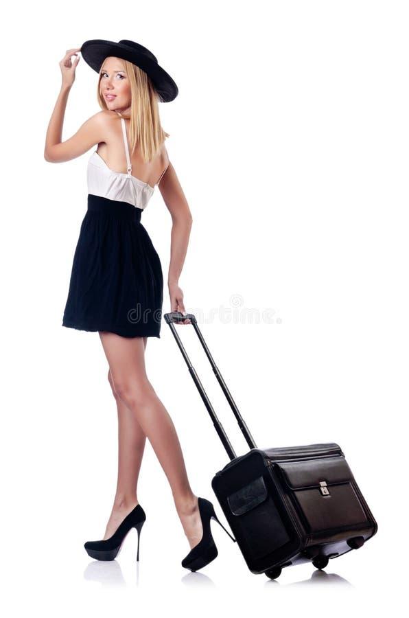 Frau, Die Für Ferien Sich Vorbereitet Lizenzfreies Stockfoto