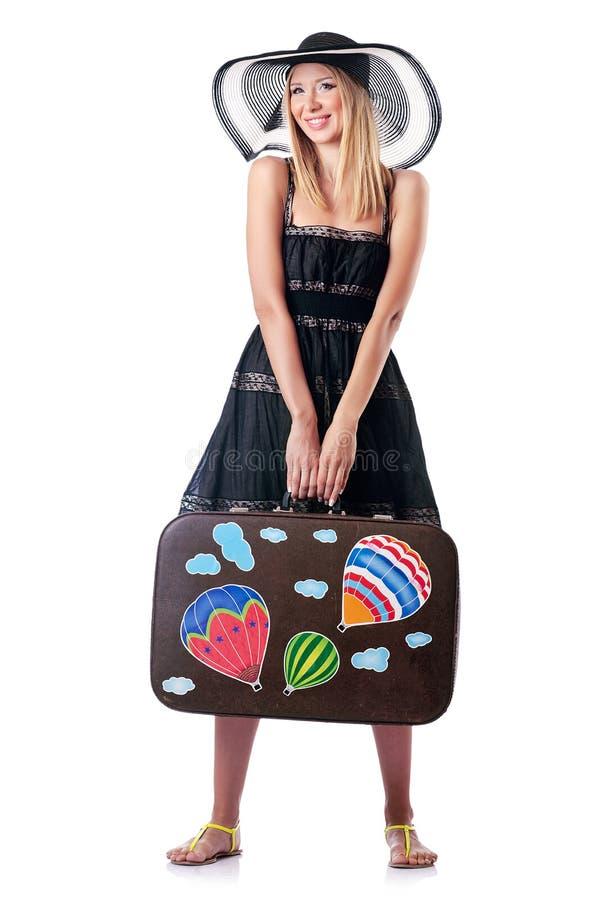Download Frau, Die Für Ferien Sich Vorbereitet Stockbild - Bild von glücklich, rucksack: 26373653