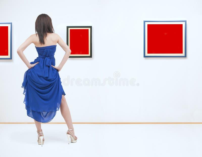 An der Galerie lizenzfreie stockfotografie