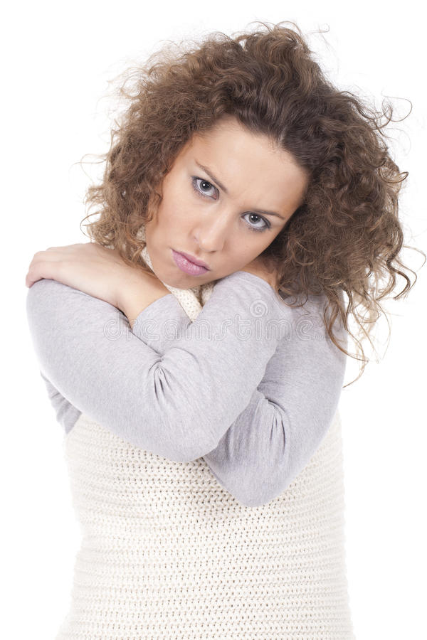 Frau, die sich umarmt stockbild. Bild von wunsch