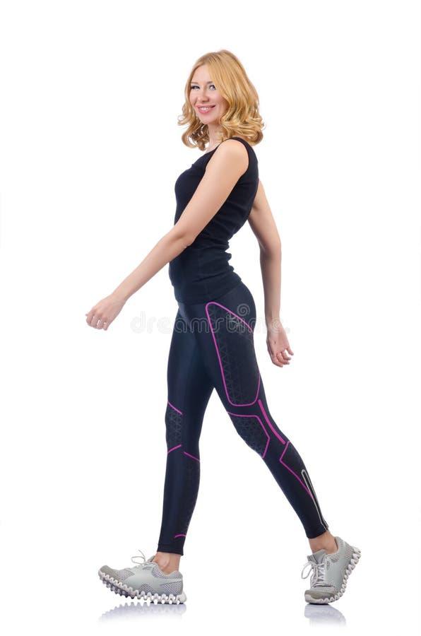 Download Frau, die Sport tut stockfoto. Bild von erwachsener, nett - 26373592