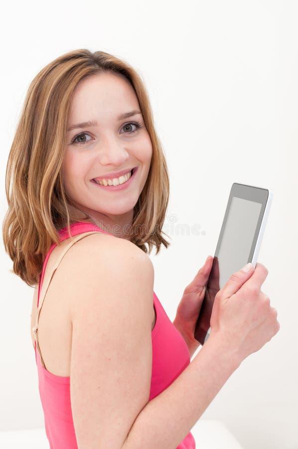 Download Frau, Die Tablette PC Verwendet Stockbild - Bild von geschäft, lebensstil: 26370201