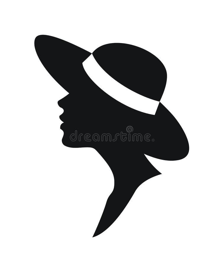 Frau in einem Hut stock abbildung