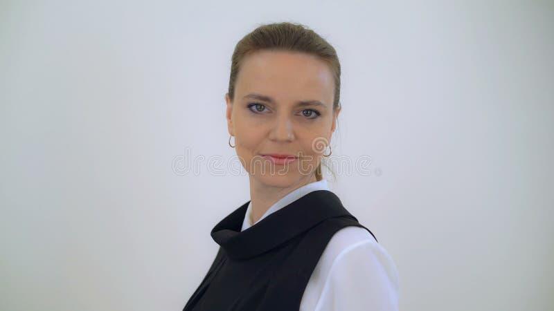 Frau fünfundvierzig Jahre alt lizenzfreies stockfoto
