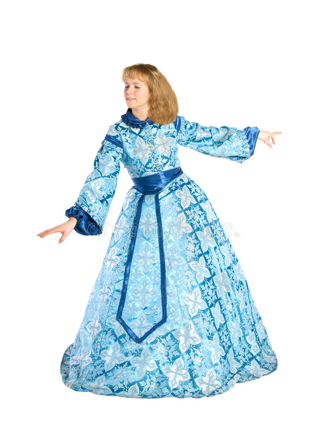 Frau in fancydress stockfoto