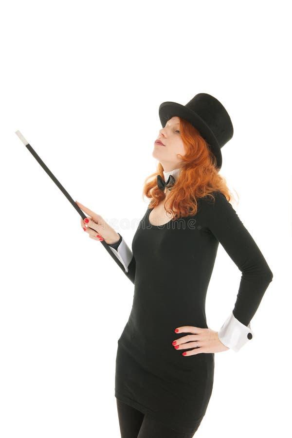 Frau gekleidet für Partei lizenzfreie stockbilder