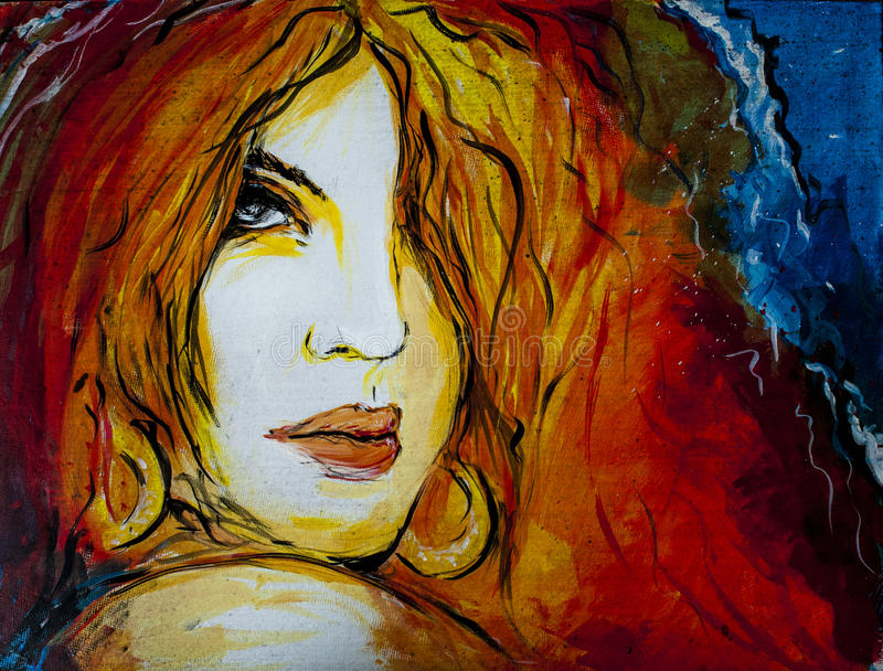 Frau gemaltes Porträt