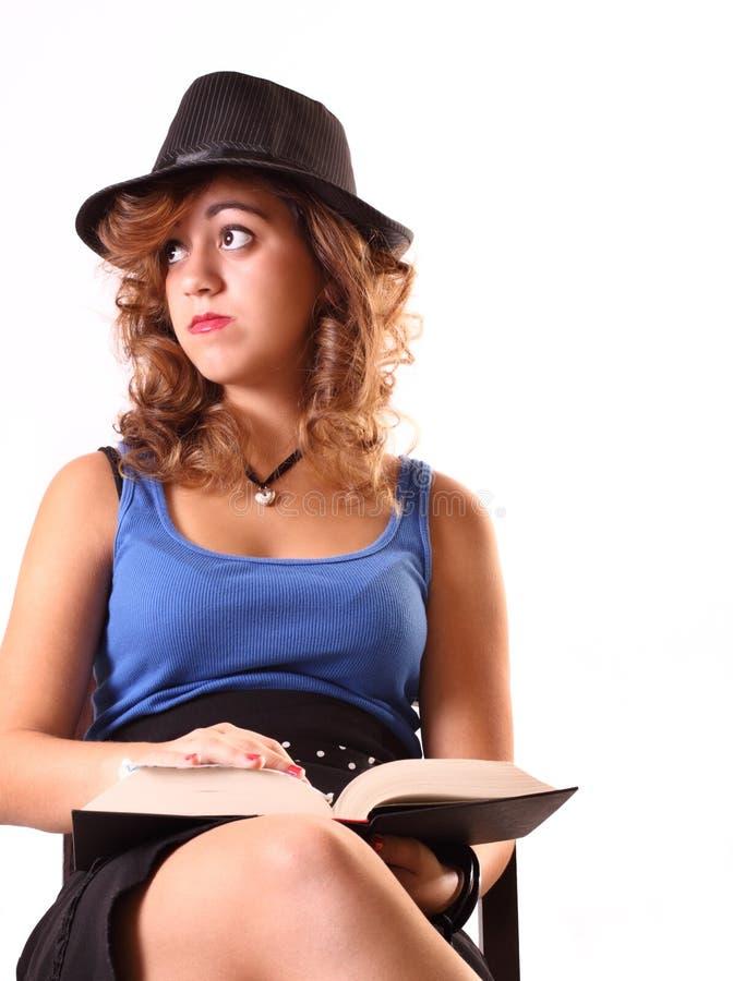 Frau getrennt auf Weiß lizenzfreie stockfotos