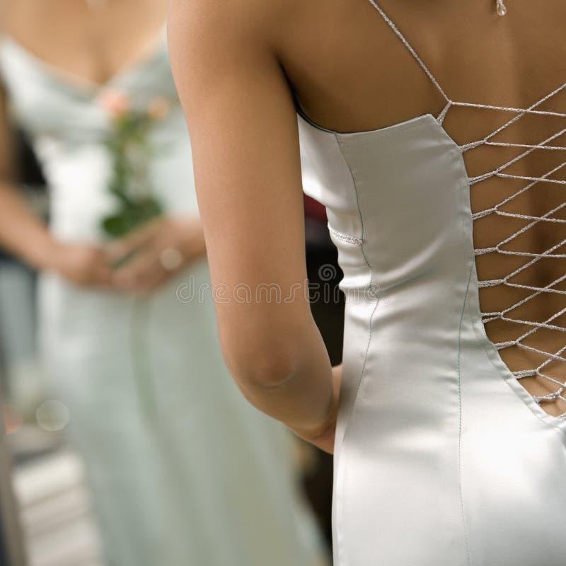Frau im Abendkleid. stockfoto