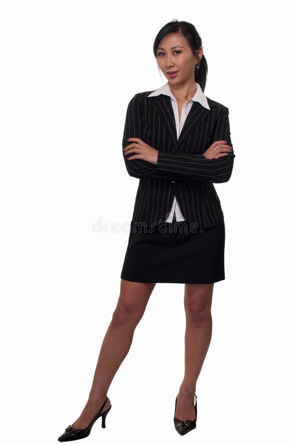 Frau im Anzug stockbild