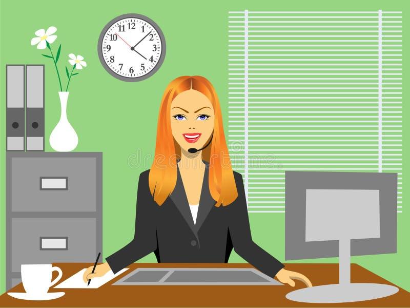 Frau im Büro vektor abbildung
