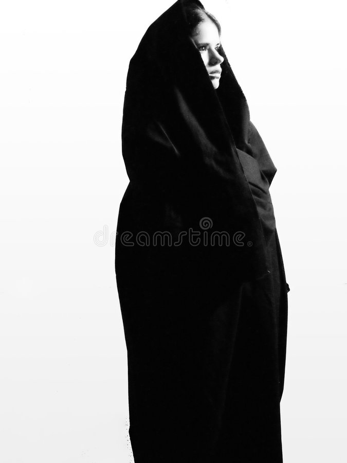 Frau im hellen hellen Beten lizenzfreie stockbilder