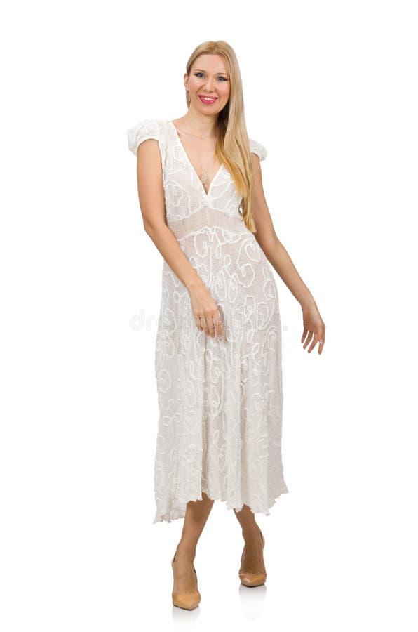 Frau im Kleiderin mode Kleid lizenzfreie stockbilder
