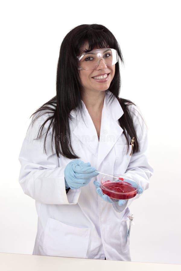 Frau im Labor lizenzfreies stockbild