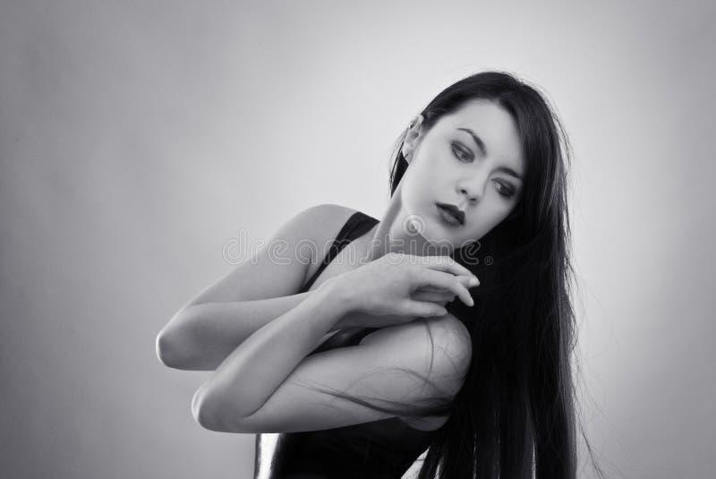 Frau im Latex stockbild