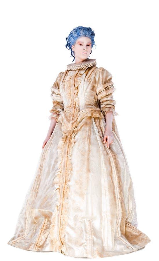 Frau im mittelalterlichen Kleid lizenzfreies stockfoto
