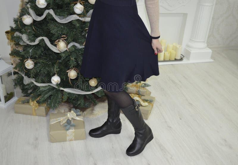 Frau im neuen Jahr lizenzfreie stockbilder