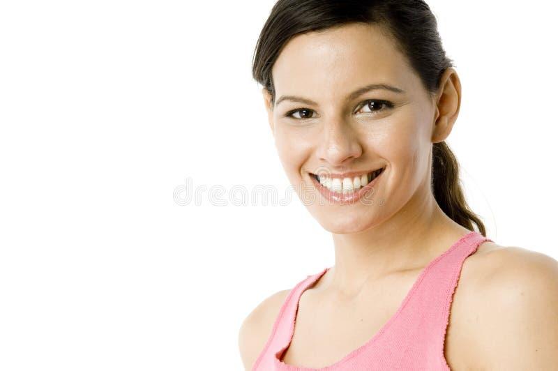 Frau im Rosa lizenzfreies stockfoto
