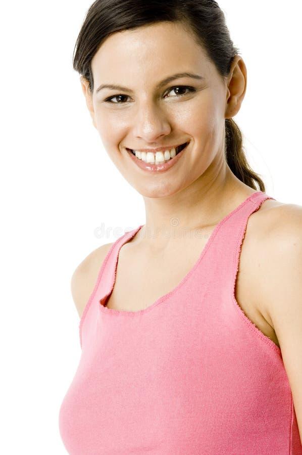Frau im Rosa stockfoto