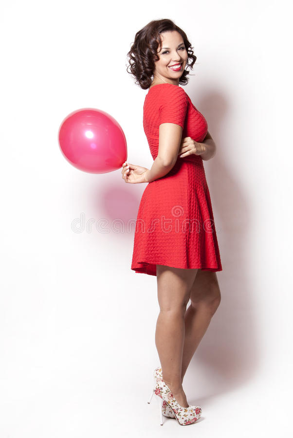 Frau im Rot lizenzfreie stockfotos