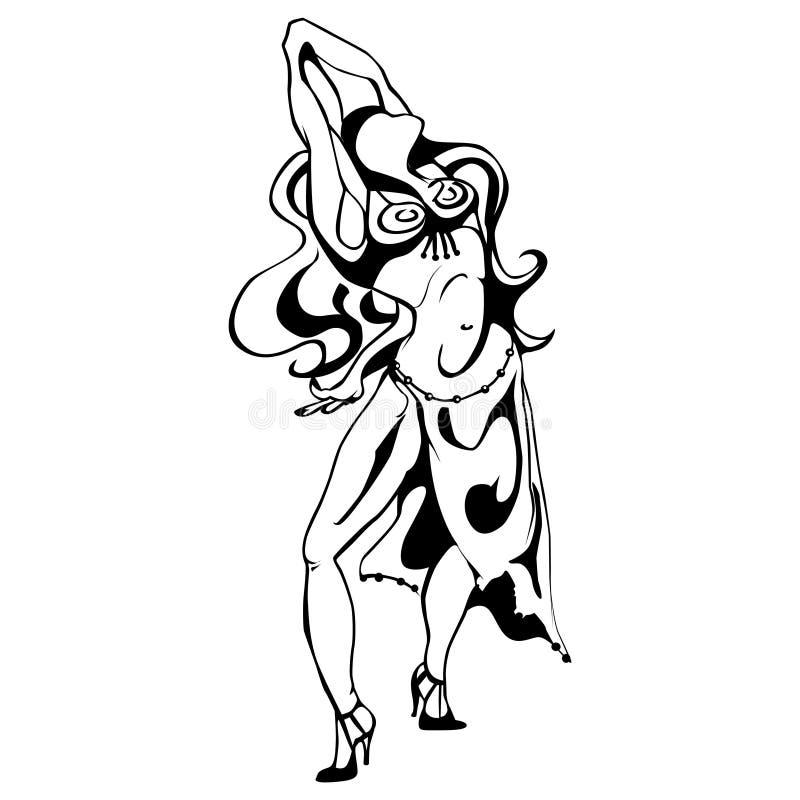 Frau im Tanz stock abbildung