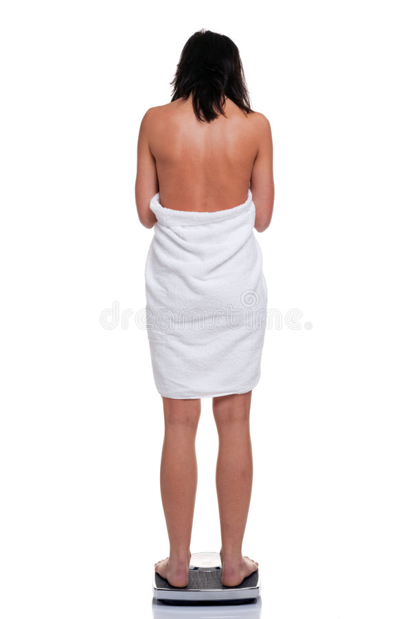 Frau im Tuch, das sich wiegt lizenzfreie stockbilder