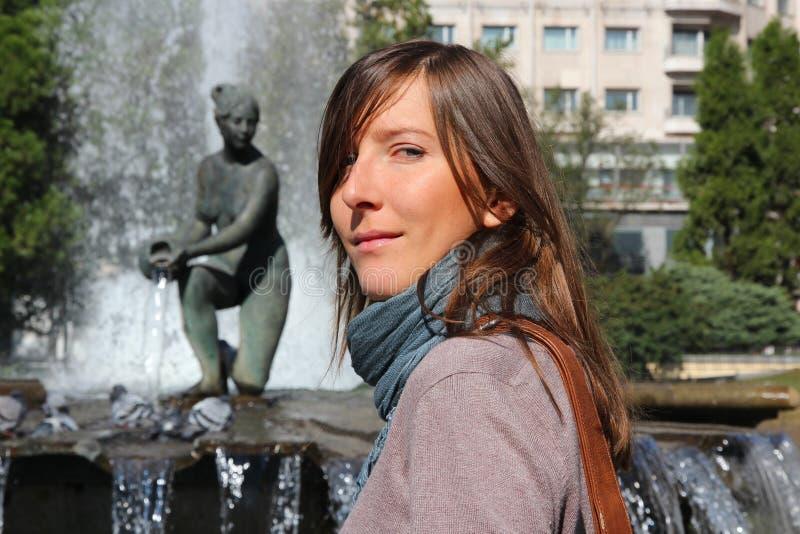 Frau in Madrid stockfoto
