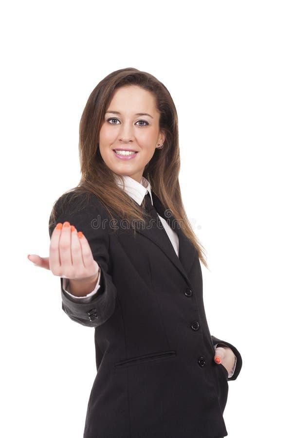 Frau mit aktiven Ausdrücken stockfotografie