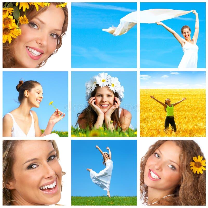 Frau mit Blume lizenzfreies stockfoto