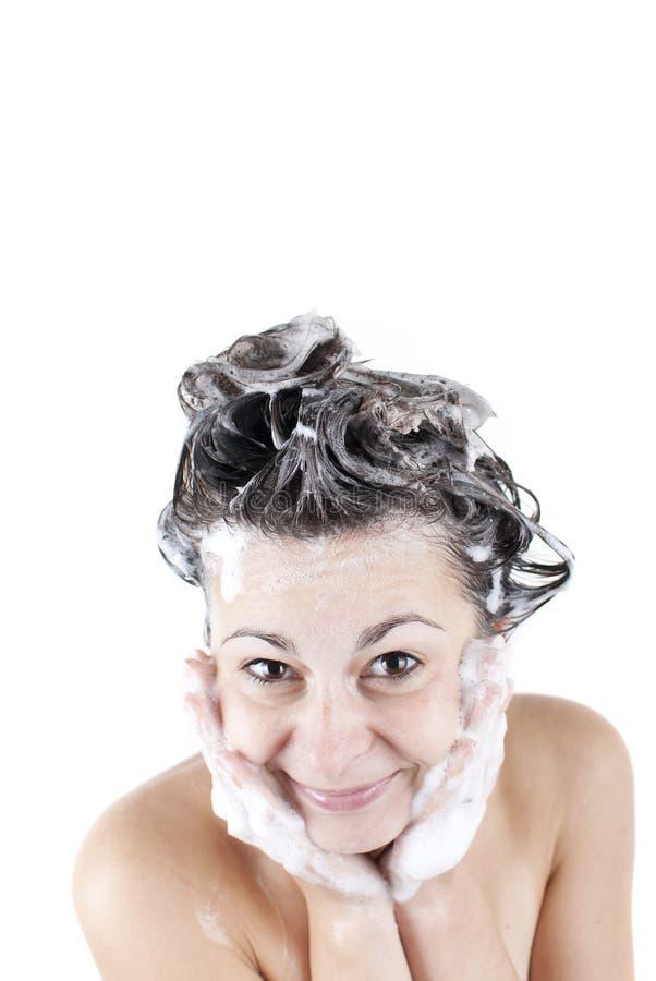 Frauen Dusche Einseifen