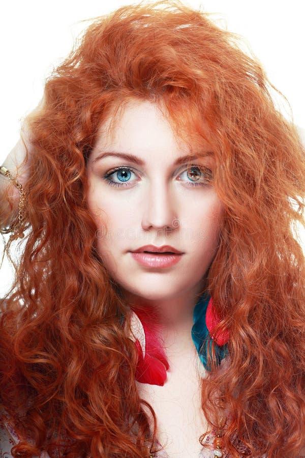 Frau mit dem roten Haar lizenzfreie stockbilder