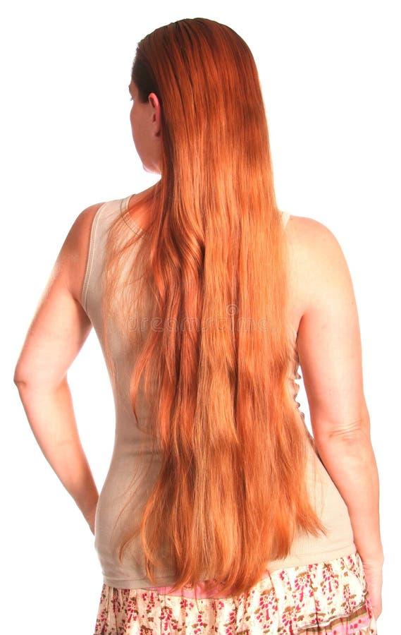 Frau mit dem sehr langen Haar lizenzfreies stockfoto