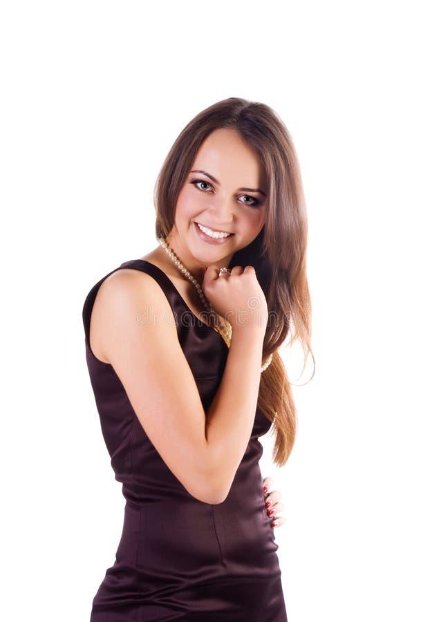 Frau mit einem langen schönen Haar lizenzfreie stockbilder