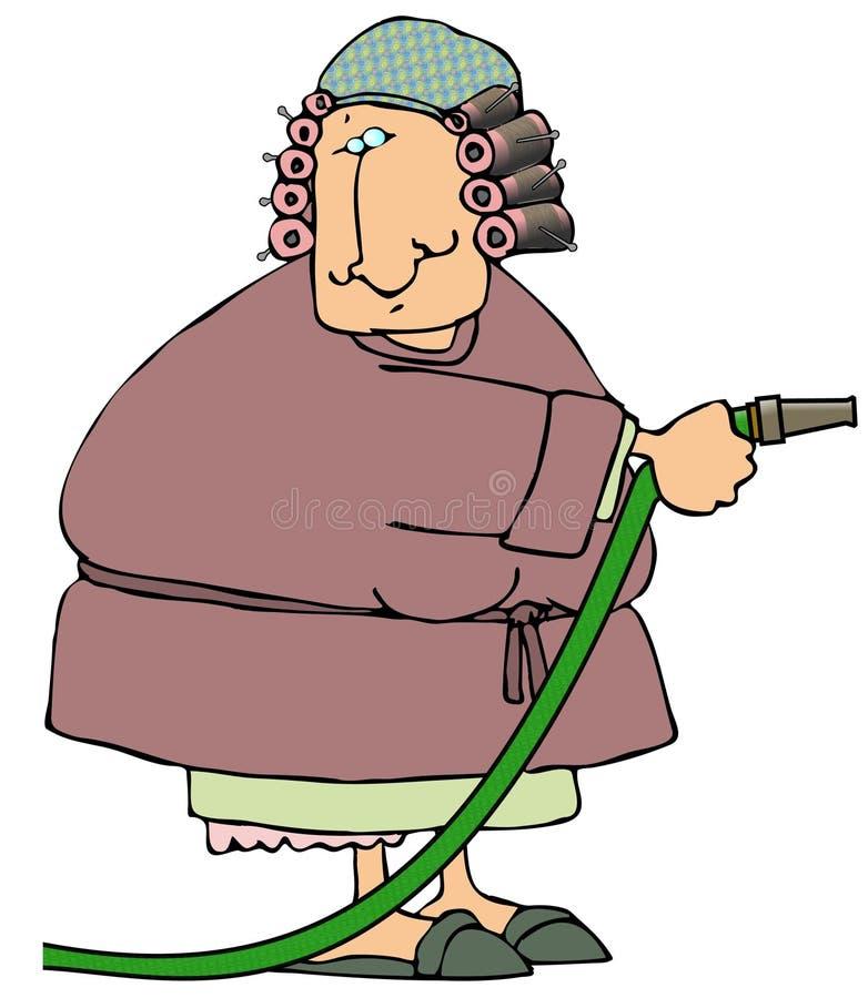 Frau mit einem Schlauch vektor abbildung