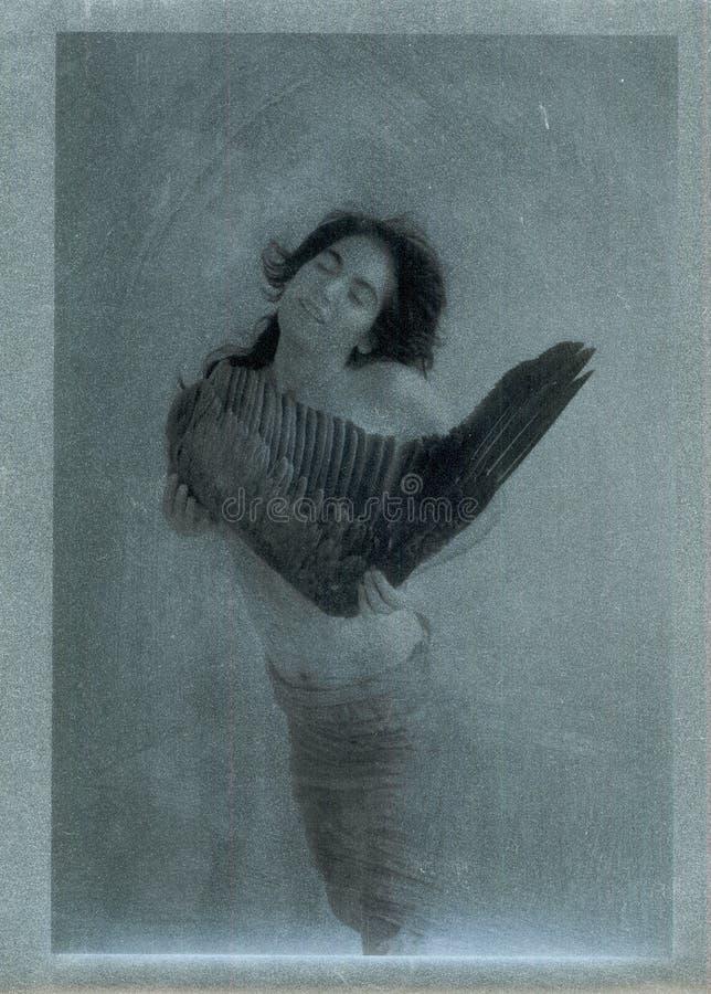 Frau mit Flügel lizenzfreie abbildung