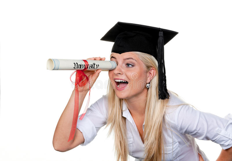 Frau mit Hut Doktor-Suchvorgangarbeit lizenzfreies stockfoto